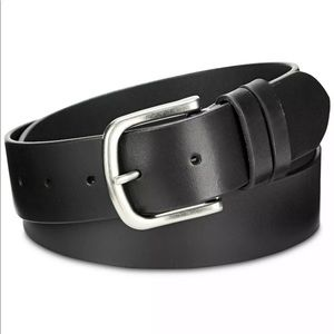 Calvin Klein Double-Keeper Black Leather Belt S